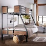 'Jennell' Industrial Twin-Over-Double Bunk Bed