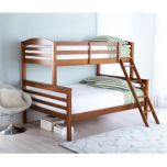 'Owen' Pine Twin-Over-Double Bunk Bed