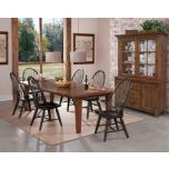 'Sutton' 5 Piece Dining Suite with Black Windsor Chairs