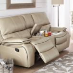 'Pendleton' Leather-Look Power Reclining Love Seat
