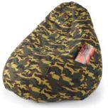 Pear-Shaped Camouflage Beanbag Chair