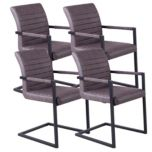 !nspire 'Valder' Accent Chair Set of 4- Brown