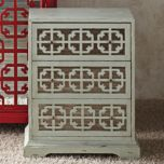 3-Drawer Lattice Chest