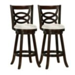 CorLiving™ 'Woodgrove' Set of 2 43' Barstools - Cappuccino