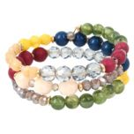 JESSICA®/MD Bracelet à perles aux tons multiples et or