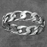 Tradition®/MD Men's Sterling Silver Chain Link Band