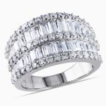 Diamore™ 6 CT Cubic Zirconia Fashion Ring in Sterling Silver
