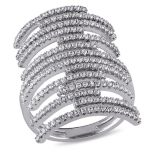 Diamore™ 1.96 CT Cubic Zirconia Fashion Ring in Sterling Silver