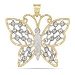 10KT Yellow Crystal Butterfly Charm