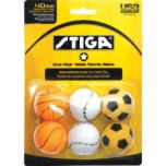 Stiga® One Star Sport Motif Table Tennis Balls (6 pack)