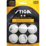 Stiga® Two Star White Table Tennis Balls (6 pack)