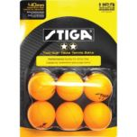 Stiga® Two Star Orange Table Tennis Balls (6 pack)