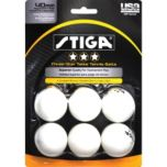 Stiga® Three Star White Table Tennis Balls (6 pack)
