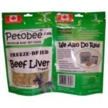 Petobee Premium Freeze Dried Liver Dog Treats - Box of 12 packs