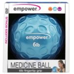Empower® 6lb Fingertip Grip Medicine Ball with DVD
