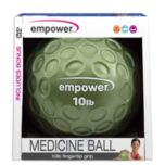 Empower® 10lb Fingertip Grip Medicine Ball with DVD