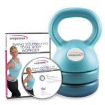 Empower® 3-in-1 Kettlebell with DVD - Teal