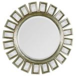 Circular Mirror With Silver Frame, MT720