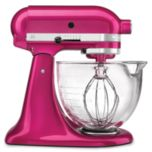 KitchenAid® 10-Speed Stand Mixer With Glass Bowl, raspberry ice