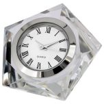 Artisan Collection Crystal Pentagon Collectible Desktop Mini Clock
