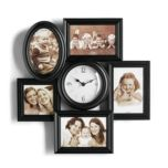 ERGO® 'Celebrate' Clock With Photo Frames