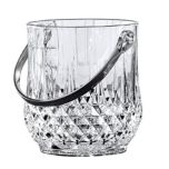 Cristal d'Arques 'Longchamps' Diamond-Cut Glass Ice Bucket
