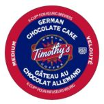 Timothy's German Chocolate Cake Coffee 18 Pack K Cups