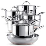 Paderno® 'Copperline' 11-Piece Cookware Set, 4700-11-01