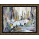 Framed Canvas Wrapped 'City In Blue II' Print