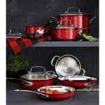 Cuisinart® 11 Piece Classic Collection® Stainless Colour Series Set , Red,   CSS-11MRC