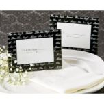 Artisano Designs 'Live, Love...' Mini Photo Frame-Card Holder in Black (4 Pack)