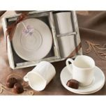 Artisano Designs 'Two Hearts' Espresso Cup Set (Set of 2)
