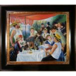 Overstock Art Renoir, Luncheon at Boating Party - Hand Painted Oil on Canvas