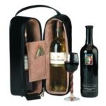 Royce Leather Double Wine Presentation Case in Man-Made Leather