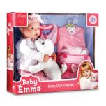 KINGSTATE Baby Emma Baby Doll With Accessories - Pink/White