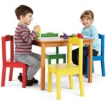 TOT TUTORS® Kid-Sized Table with 4 Chairs Sets