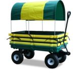 Millside Green Deck Poly Wagon with Canopy