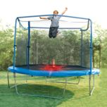 Trainor Sports® 13 ft Outdoor Trampoline and Enclosure Combo with LED Flash Zone