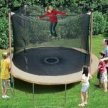 Trainor Sports® 11 ft Outdoor Trampoline with Enclosure