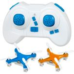 Teeny Drones™ Blue & Orange Drone Fly1 Charge1-2 Pack - 2 drones & 1 Remote
