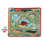Melissa & Doug(MD) Tapis de jeu routier Round the Town