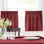WholeHome®/MD Dawson Plaid Casual Kitchen Collection 2-Piece Tier Curtain Set