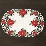 'Red Poinsettia' Set Of Placemats