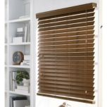 WholeHome®/MD 2 1/2' Room-Darkening Custom-Cut Faux-Wood Blinds