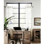 WholeHome®/MD Evita' Textured Semi-Sheer Print Grommet Panel - Curtain