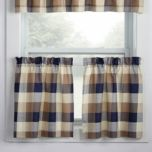 WholeHome®/MD Carter' Collection Unlined Tier Set - Curtain