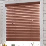 Wood-Look Printed PVC Cut-To-Fit Mini Blinds