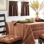 WholeHome®/MD 'Autumn Plaid' Set Of 2 Window Tiers-Plaid