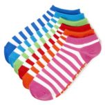 Converse® 6 Pair Flat Knit Striped Socks