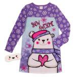 jellifish™ Girls Classic Sleep Shirt With Sleep Mask Set